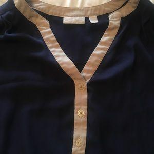 New York & Company Tops - New York & Company dark blue blouse